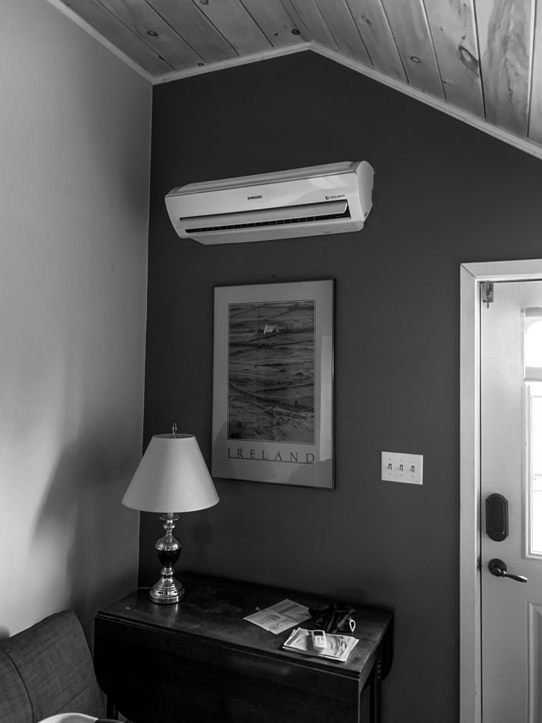 Samsung Ductless Split - New install in a guest suite above a detached garage.